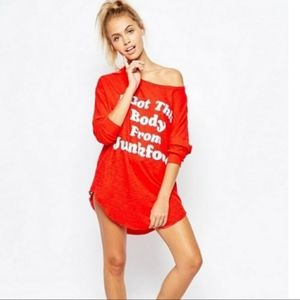 Wildfox I Got This Body From Junkfood Long…